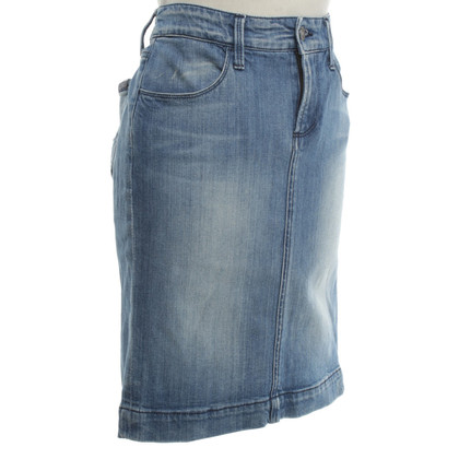 7 For All Mankind Denim Rock mit Waschung