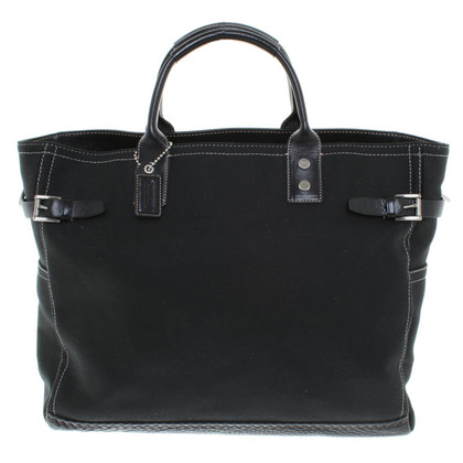 Coach Canvas-Shopper in Schwarz