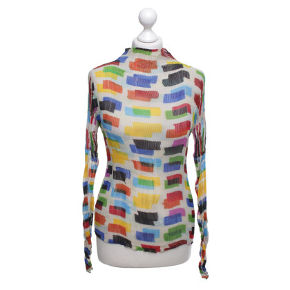 Issey Miyake top with pleated pleats