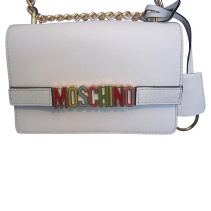 Moschino Schoudertas in wit