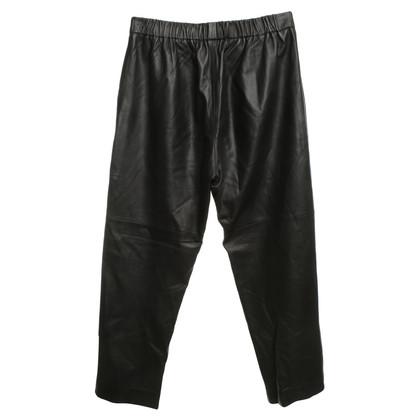 Iro Leren broek in zwart