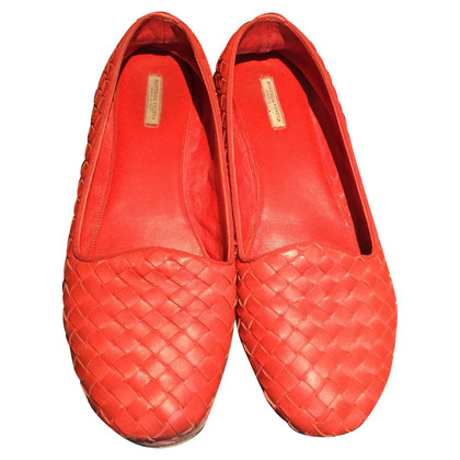 Bottega Veneta Braided leather ballerinas