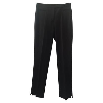 St. Emile Pantaloni in lana pura nero nuovo