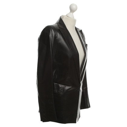 Costume National Leather Jacket in Black