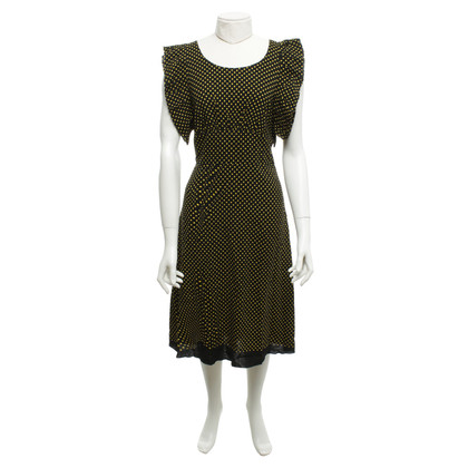 Prada Dotted dress in black / yellow