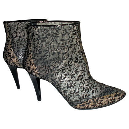 Bottega Veneta Black lace ankle boots