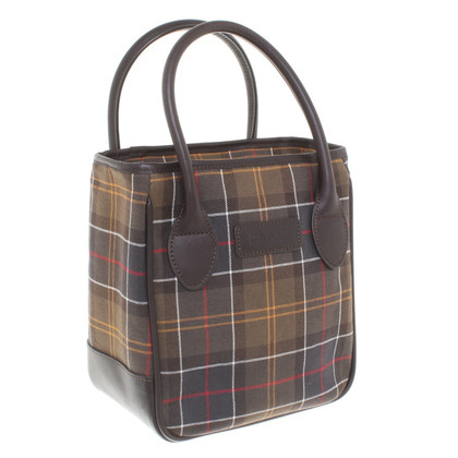 Barbour Handbag with plaid pattern