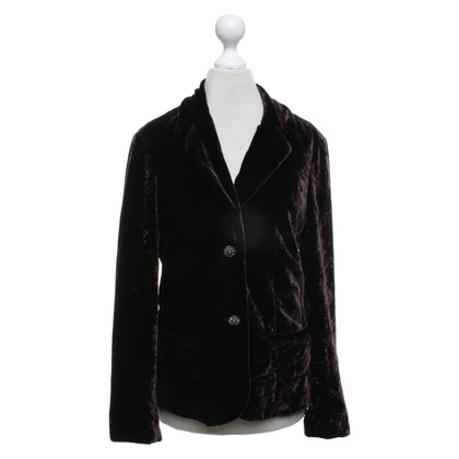 Steffen Schraut Velvet blazer in dark brown
