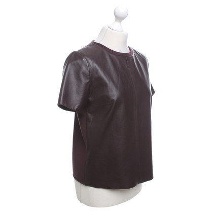 Max Mara Leather shirt in Bordeaux