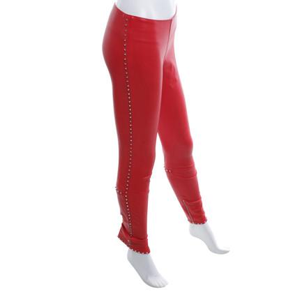 Andere Marke Aphero - Lederhose in Rot
