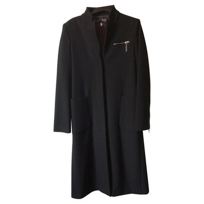 Armani Jeans Langer Mantel in Schwarz