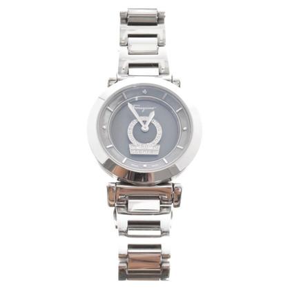 Salvatore Ferragamo Zilveren armband horloge Toon