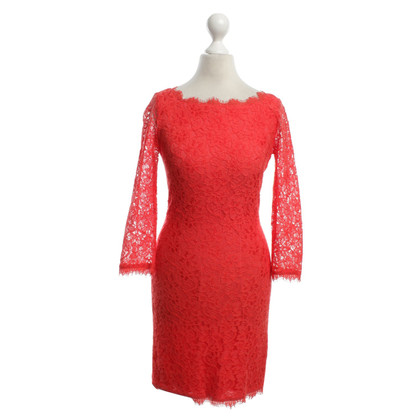 Diane von Furstenberg Dress of red lace