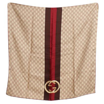 Gucci Zijden sjaal patronen Guccissima