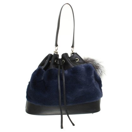 Other Designer Oh ! By Kopenhagen Fur - Leather shopper with pendant