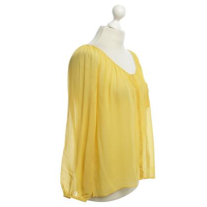 American Vintage Zijden blouse in het geel