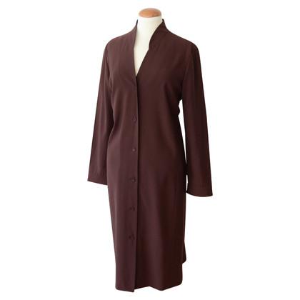 Jil Sander Bordeaux gekleurde jurk met knoopsluiting