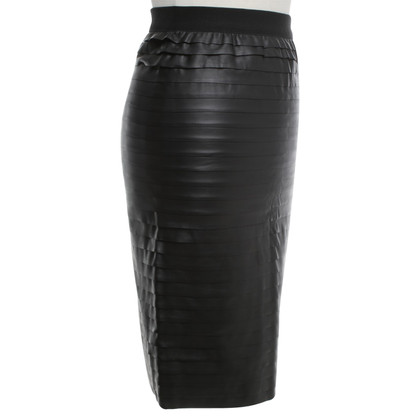 BCBG Max Azria Artificial leather skirt in black