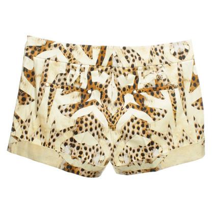 Roberto Cavalli Shorts with animal print