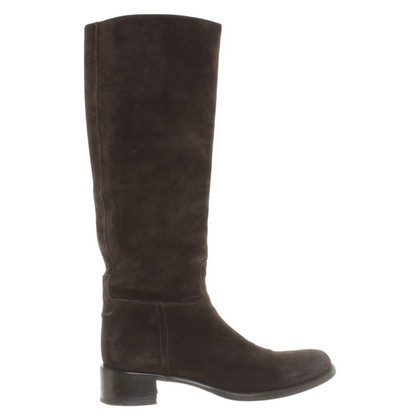 Prada Suede boots in Brown