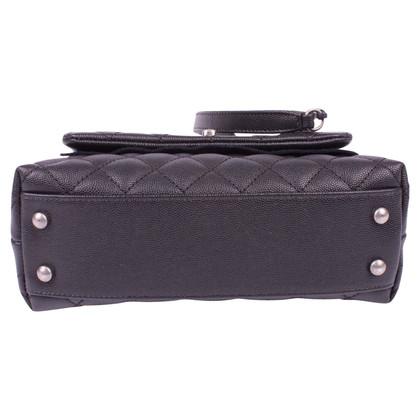 "Chanel ""Top Handle Flap Bag"" Caviar Leather"