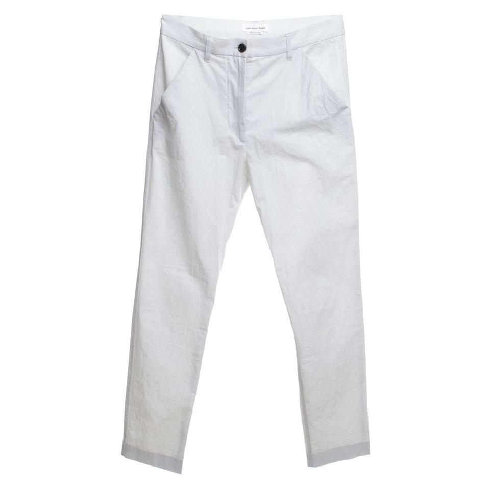 Isabel Marant Etoile pantaloni di cotone in bianco