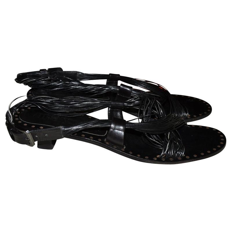Jil Sander sandali pelle