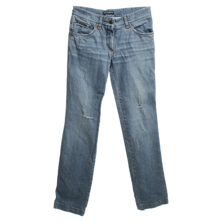 Dolce & Gabbana Jeans im Destroyed-Look Blau