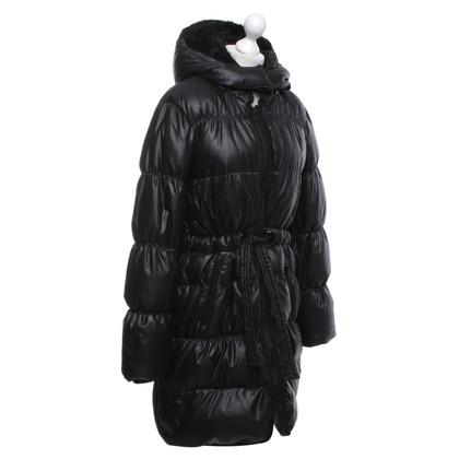 René Lezard Quilted coat in black