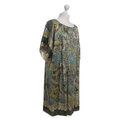 Anna Sui Silk dress with metallic yarn
