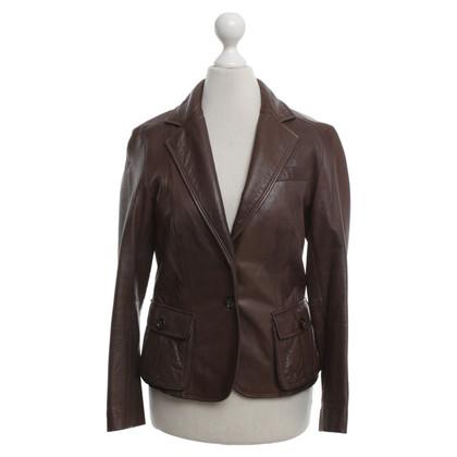 René Lezard Leather jacket in brown