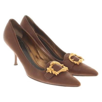 Prada pumps in dark brown
