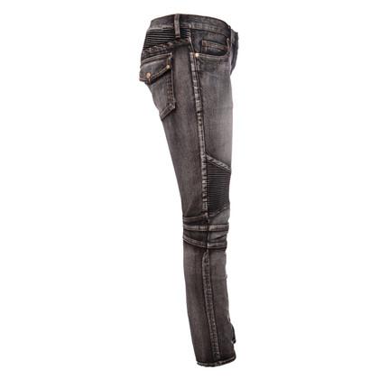 Balmain Jeans biker gris