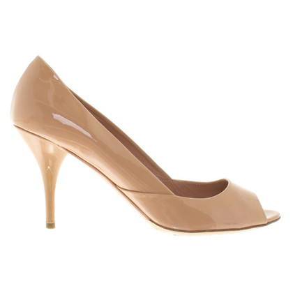 Miu Miu nude coloured peep toes