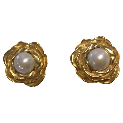 Givenchy Boucles d'oreilles clip avec perle décorative