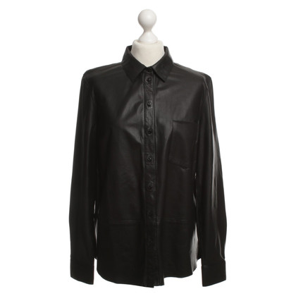 Set Leather blouse in black