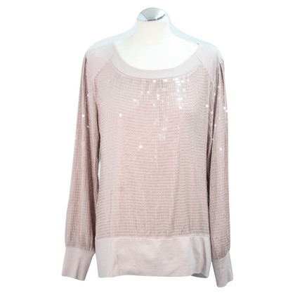 Reiss top paillettes in rosa polveroso