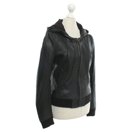 Muubaa Leather jacket in black