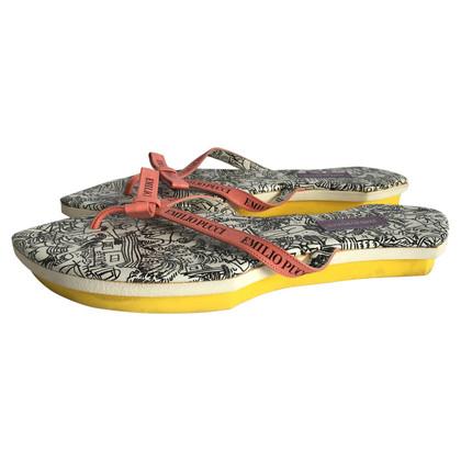 Emilio Pucci Platte sandalen