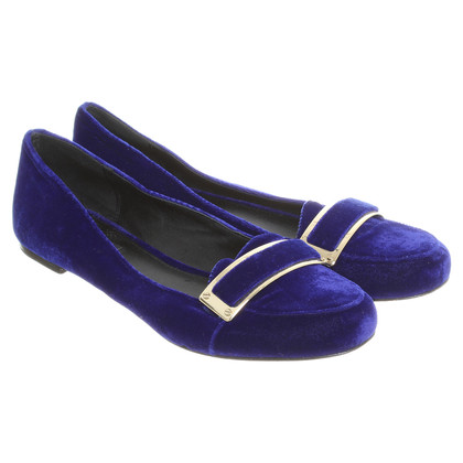 Rachel Zoe Samtballerinas in blauw