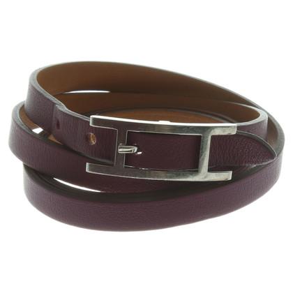 Hermès Hapi bracelet in Violet