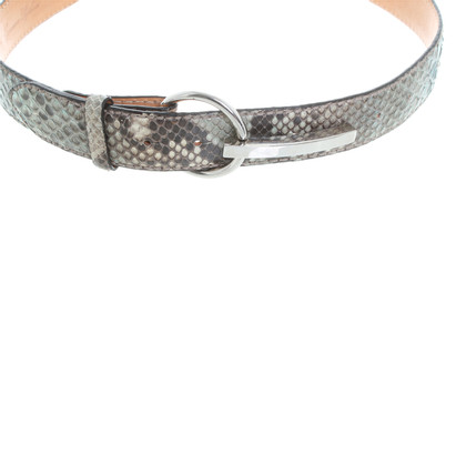 Reptile's House Printed Python leather belt