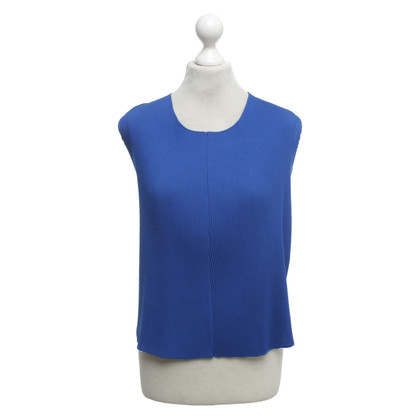 Sandro Top with pleats in royal blue