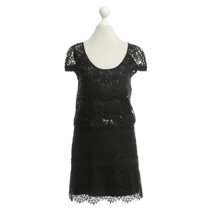 The Kooples robe de dentelle en noir