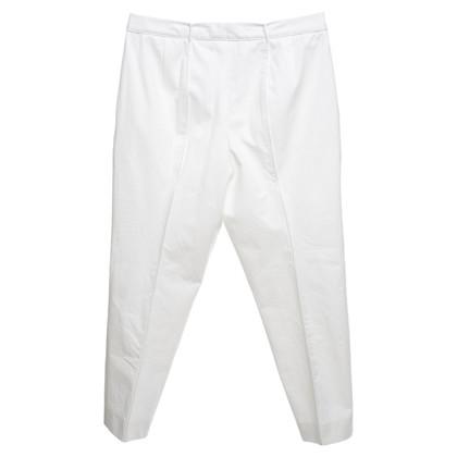 Jil Sander pantaloni Capri in crema bianca