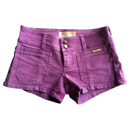 John Galliano Purple denim shorts