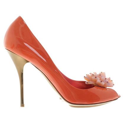 Sebastian Patent leather peep-toes