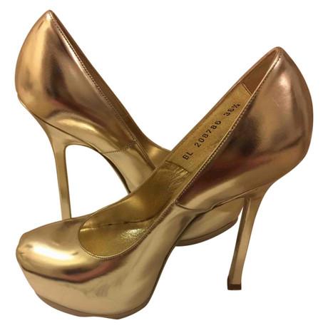 Yves Saint Laurent Pumps Gold