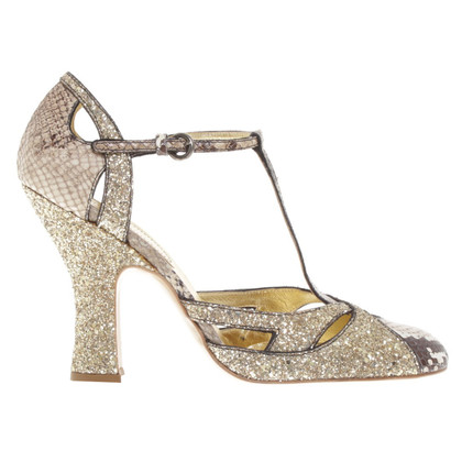 Miu Miu pumps with sequin trim