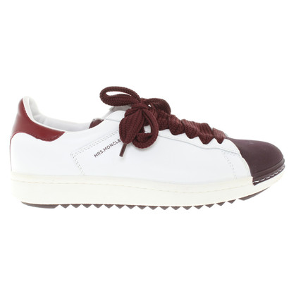 Moncler Sneakers in White / Bordeaux